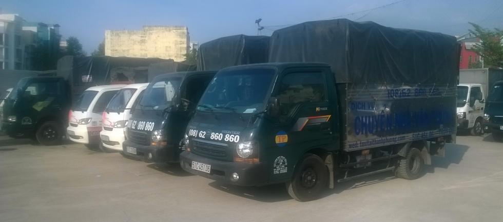 Hệ thống xe taxi tải phục vụ dịch vụ cho thuê xe tải chở hàng TPHCM giá rẻ tại Thành Phương.
